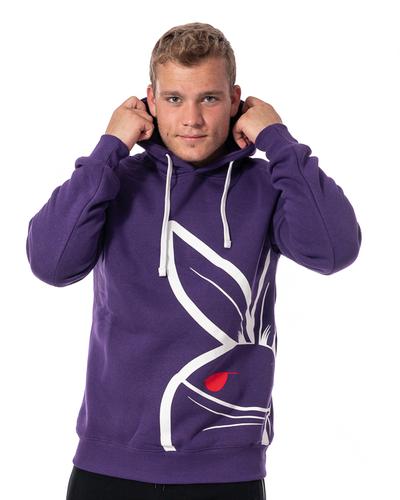 Bluza Z Kapturem 3maj Fason Big Bunny Front Fioletowa