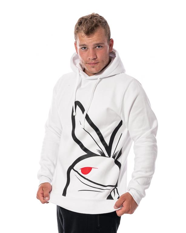 Bluza Z Kapturem 3maj Fason Big Bunny Front Biała